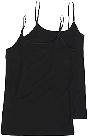 2 Pack Basic Zenana Women's Tank Tops Small Black & Black