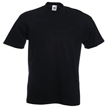 Fruit of the Loom Super Premium T-Shirt - Black XXL