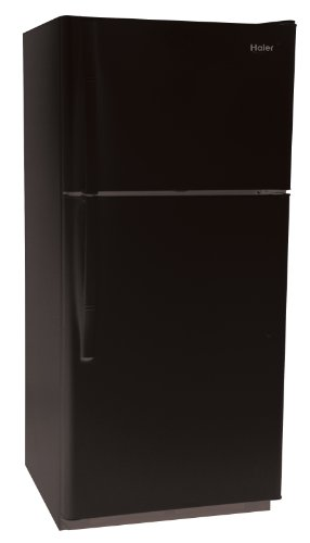 Haier RRTG18PABB 18.2 Cubic Foot Frost-Free Top-Mount Refrigerator/Freezer, Black