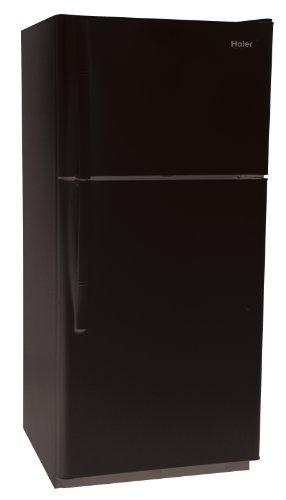 Haier RRTG18PABB 18.2 Cubic Foot Frost-Free Top-Mount Refrigerator/Freezer, Black