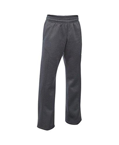 Under Armour Boys' Storm Armour Fleece Big Logo Pants, Carbon Heather (091), Youth Large