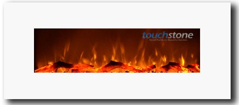 Test 80002 Ivory Wall Mounted Electric Fireplace, 50 Inch Wide, 1500/750 Watt Heater (Ghostly)