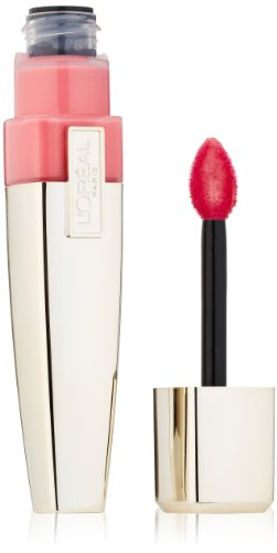 L'Oreal Paris Colour Caresse Wet Shine Lip Stain, Rose On And On, 0.21 Ounces