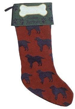 Dog Lovers Golden Retriever Christmas Stocking 18