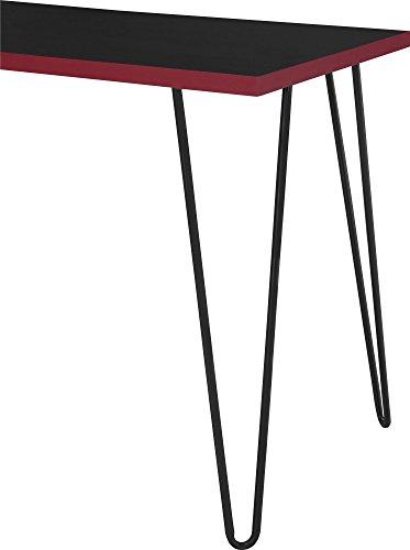 Altra Owen Retro Desk Black Red Furniture Table