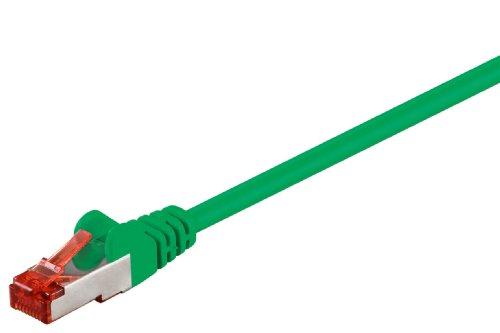 Internet Kabel 25cm grün, doppelt geschirmt, Cat.6