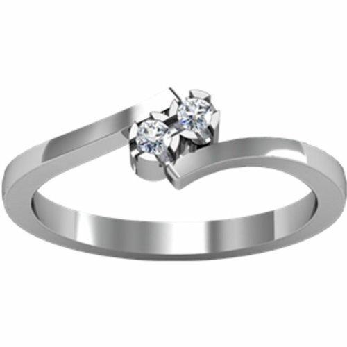 14K White Gold Promise Diamond Ring - 0.06 Ct. - Size 6.5