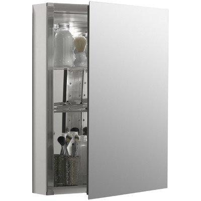 """26"""" H x 20"""" W Aluminum Single-Door Cabinet with Mirrored Door"""