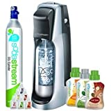 Soda Stream Jet Blk Silver 1012111017 Soda Maker Starter Kit