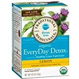 Organic EveryDay Detox Tea Lemon, 16 bags (Pack of 3)