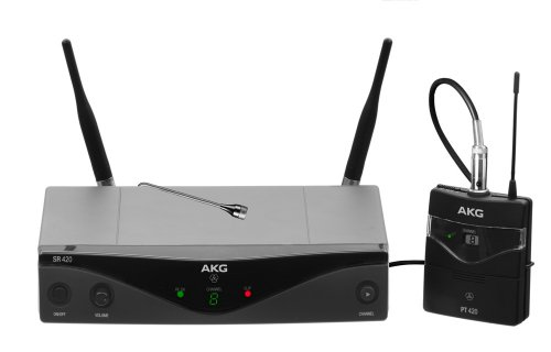 Akg Pro Audio Wms420 Presenter Set Band U2 Wireless Microphone System