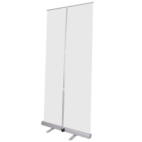 New Economy Retractable Roll Up Banner Stand Trade Show Adjustable Height 33X79""