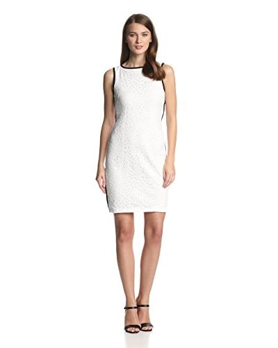 Isaac Mizrahi Women's Sleeveless Paisley Lace Sheath Dress