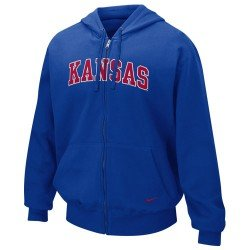 Kansas Jayhawks Nike Full Zip Hood by Nike
