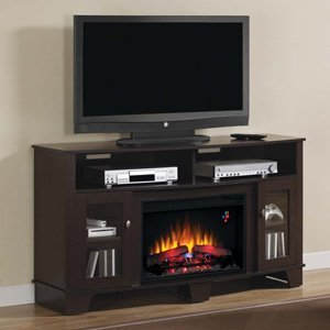 ClassicFlame LaSalle Electric Fireplace Media Console in Oak Espresso - 26MM4995-PE91
