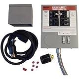 Generac 6408 30-Amp 6-10-Circuit Indoor Manual Transfer Switch Kit for Maximum 7,500 Watt Generators