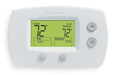 Honeywell TH5220D1029 Focuspro 5000 Non-Programmable 2 Heat and 2 Cooling Thermostat, Large Screen