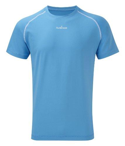 Mens RunBreeze Performance Running Tee Shirt Blue