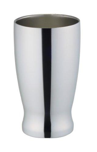 ドウシシャ 飲み頃タンブラー 330ml ミラー色 真空ニ層構造 DST-330ML
