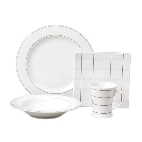 Nautica Yacht Club 16-Piece Dinnerware Set, Service for 4 - Buy Nautica Yacht Club 16-Piece Dinnerware Set, Service for 4 - Purchase Nautica Yacht Club 16-Piece Dinnerware Set, Service for 4 (Lifetime Brands, Home & Garden, Categories, Kitchen & Dining, Tableware, Dinnerware Sets)