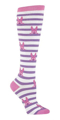 Sock It To Me BUNNY STRIPES Womens Knee Socks