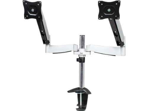 Rosewill Dual Adjustable Tilt Swivel Rotate Arm 13-27 Inches Lcd/Led Monitor Desk Mount (Rms-Ddm01)