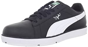 PUMA Men's PG Clyde Golf Shoe,Black/White,10.5 M US