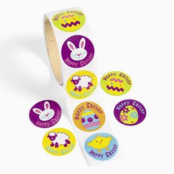 100 Iconic HAPPY EASTER Character STICKERS/BUNNIES/Chicks/EGGS/Lamb/Basket Filler/TEACHER Prizes/NEW