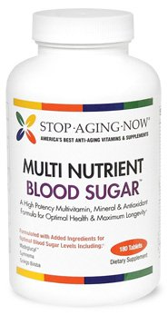 MULTI BLOOD SUGAR SUPPORT® Multivitamin with Gymnema, Madeglucyl & More | 180 Tabs. Made in USA.
