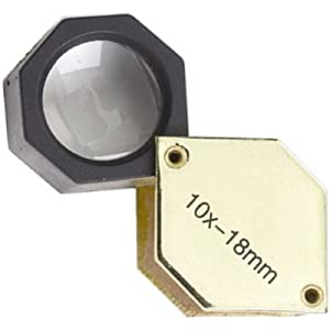 10x Hexagonal Body Gold Tone Eye Loupe Coin Stamp Inspection ..... Best Seller on Amazon!