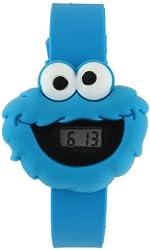 Seseme Street SW2506-CM Cookie Monster Digital LCD Kids Watch