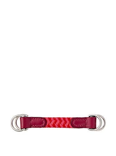 Hermés Women's Braided Leather Scarf Ring, Rose
