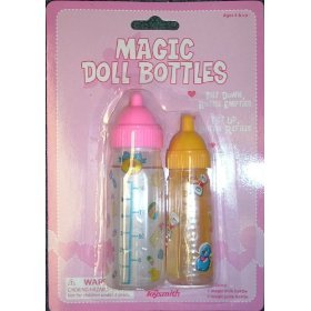BABYDOLL Magic BABY Bottles SET Of Two MILK & Juice girls toy
