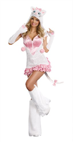Pretty White Kitty Adult Costume
