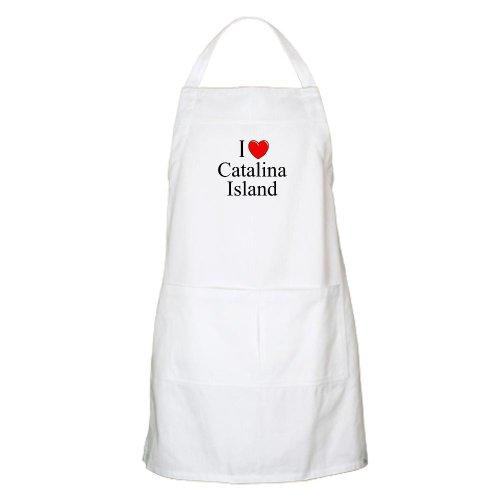 Cafepress I Love Catalina Island BBQ Apron - Standard