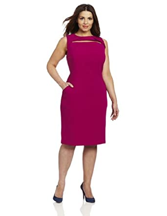 Anne Klein Women's Plus-Size Sheath Dress, Pink, 16W at Amazon Women