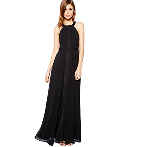Wawoo ®Long Dress For Women Maxi Chiffon Dress Party Backless Open Side Sexy Dresses For Women