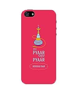 PosterGuy iPhone 5 / 5S Case Cover - Tera Pyar Pyar Pyar Hookah Bar (Pink) Illustration