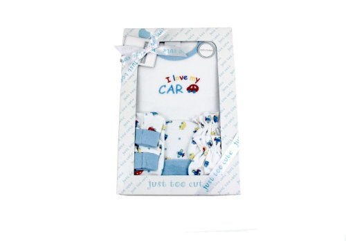 Baby Gift Set 4pc Blue 0-3m
