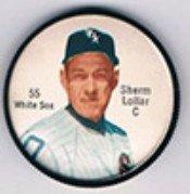1962 Salada Tea Coins (Baseball) Card# 55 Sherm Lollar Of The Chicago White Sox Nrmt Condition
