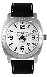 Jorg Gray Leather Silver Dial Men's watch #JG1020-13