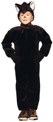 Child's Black Cat Costume (Size:Medium 8-10)