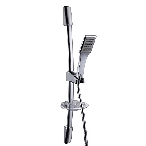 KES F221+KP117 Single Function Hand Shower Head with Slide Bar Adjustable, Polished Chrome (Shower Head Sliding Bar compare prices)