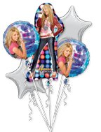 Hannah Montana Character Happy Birthday Party Foil Balloon Bouquet