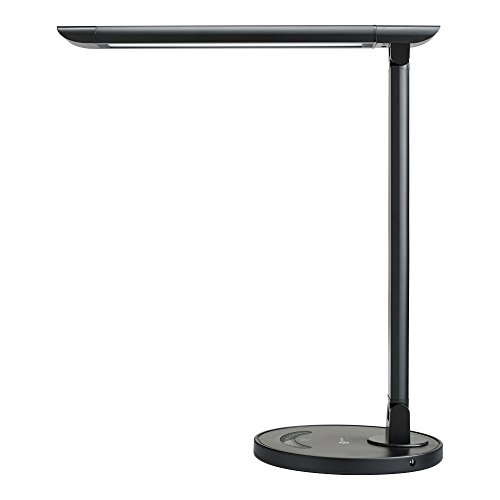TaoTronics LED Desk Lamp Eye-caring Table Lamp, Energy Efficient LED Lamp(12W, Dimmable, Touch Control, 5 Color Modes, USB Charging Port) Black (Amazon Touch Lamps compare prices)