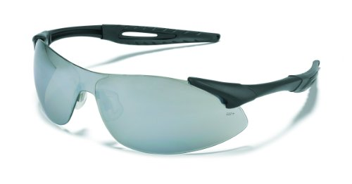 Mcr Safety Ia117 Inertia Polycarbonate Safety Glasses With Black Frame And Silver Mirror Lens