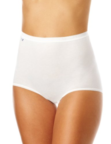 Sloggi Women's Sloggi Maxi Brief plain High Rise, White, 18 (Manufacturer Size: 48)