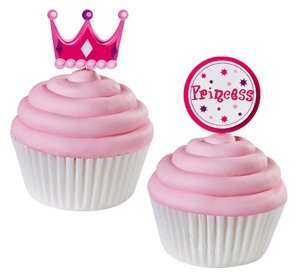 "Wilton Decorations Fun Pix 3"" Princess 12pc"