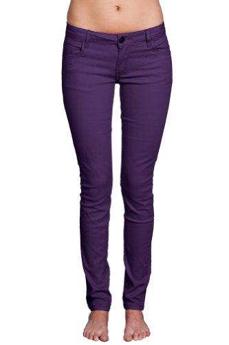 Gazoz Women's Plus Size Skinny Tapered Cut Stretch Jeans