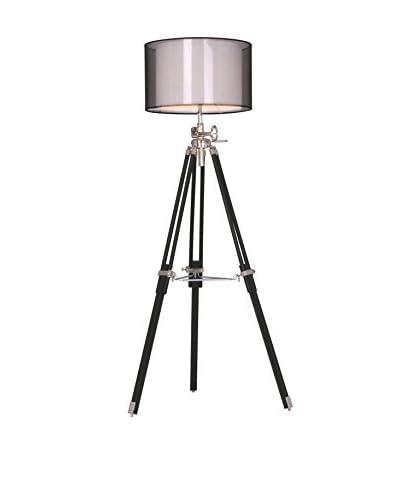 Urban Lights 73 Ansel Tripod Floor Lamp, Chrome/Black